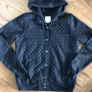 RVCA Jacket Quilted with Knit Sleeves.